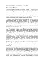 Consumismo infantil - Centro de Ecologia Integral