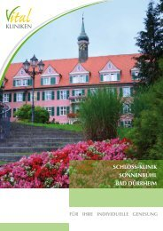 Fotoprospekt Schloss-Klinik Sonnenbühl - in den Vital-Kliniken