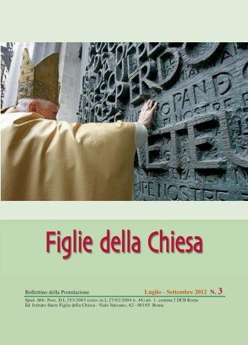 Bollettino N.3-2012 :Layout 1 - Figlie della Chiesa