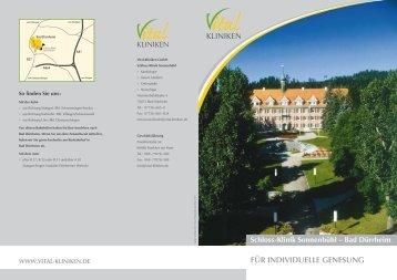 Schloss-Klinik Sonnenbühl, Bad Dürrheim - in den Vital-Kliniken