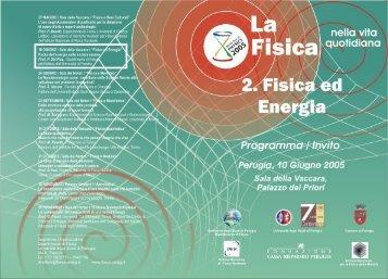 invito_2 - Dipartimento di Fisica - Universita` di Perugia - Università ...
