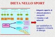 Dieta nello sport