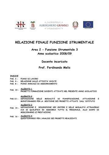 relazione finale funzione strumentale - Istituto Professionale ...