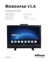 Mondopad v1.4 - Support - InFocus