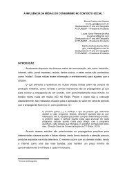 A INFLUÊNCIA DA MÍDIA E DO CONSUMISMO NO ... - Unesp