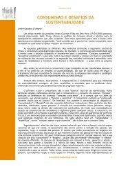 consumismo e desafios da sustentabilidade - Think Marketing