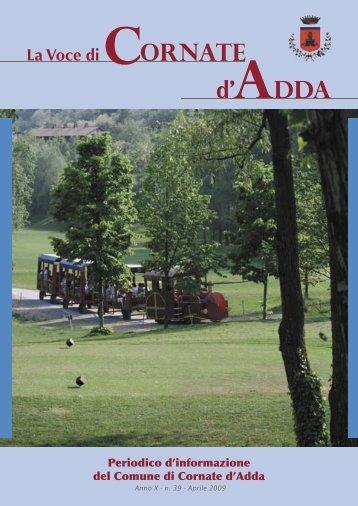 Numero Marzo 2009 - Comune di Cornate d'Adda