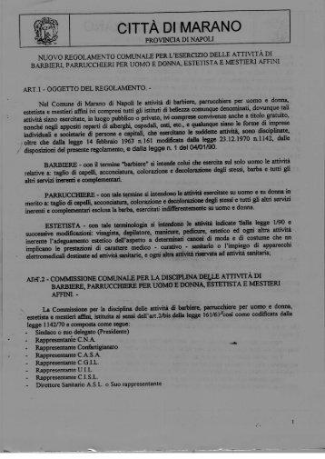 CITTÀ DI MARANO - Comune di Marano di Napoli