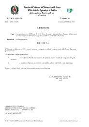 Scarica Decreto - Centro servizi amministrativi di Cosenza