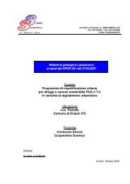 Relazione geologica e geotecnica - Comune di Empoli