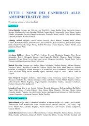 tutti i nomi dei candidati alle amministrative 2009 - Alpeadriaimprese.It