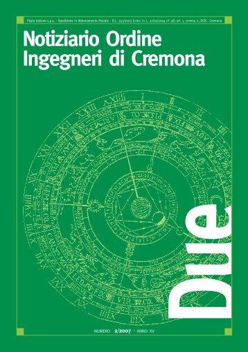 Notiziario Ordine Ingegneri di Cremona - Ordine degli Ingegneri di ...