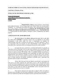 Agravo contra liminar de reintegração de posse – TJRS - Polis