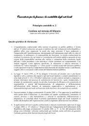 Gestione nel sistema di bilancio - Piscino.it