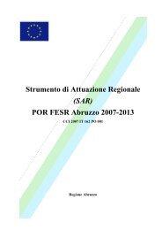 Strumento di Attuazione Regionale (SAR) - Regione Abruzzo