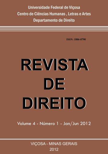 Volume 4 número 01, Jan/Jn 2012 - Departamento de Direito - UFV