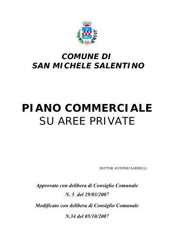 Regolamento Piano Commerciale su aree private - Comune di SAN ...