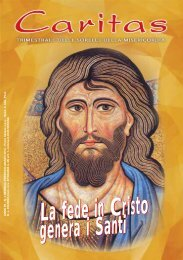Caritas n. 1 gennaio - marzo 2013 - Istituto Sorelle della Misericordia
