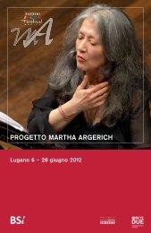 PROGETTO MARTHA ARGERICH – RSI – Radiotelevisione Svizzera