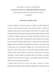 1 Estratto dalla tesi di laurea di LAURA FRISINA IL ... - Marco Vichi