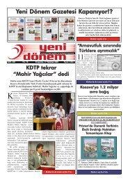 Yeni Dönem Gazetesi Kapanıyor!? - Kosova Prizrenliler Kültür ve ...