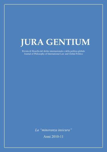 minoranza insicura - Jura Gentium