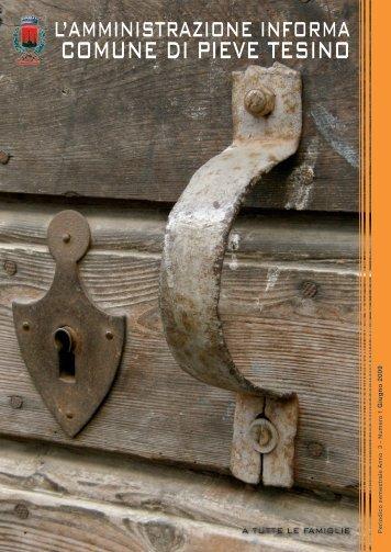 Anno III - Numero 1 - Giugno 2009 - Comune di Pieve Tesino