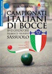 Visualizza Depliant - Federazione Italiana Bocce