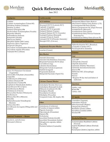 Formulary Quick Reference Guide