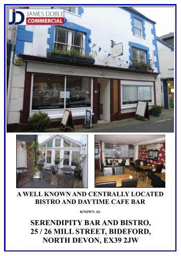 serendipity bar and bistro, 25 / 26 mill street, bideford, north devon ...