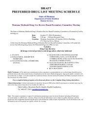October 27, 2004 Agenda - Montana Medicaid