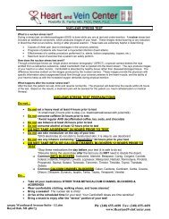 nuclear stress instructions and consent form - Heart & Vein Center