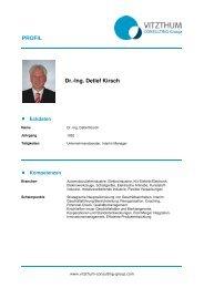 Dr.-Ing. Detlef Kirsch - VMC Vitzthum Management Consulting e.K.