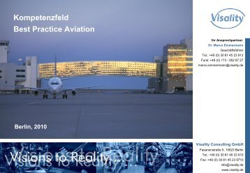 Kompetenzfeld Best Practice Aviation - Visality Consulting GmbH