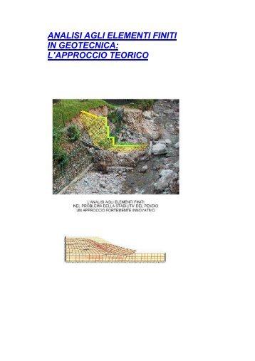 analisi agli elementi finiti in geotecnica: l'approccio teorico - Terrain.it