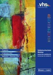 Herbstprogramm 2012 - Deutsches Institut für Erwachsenenbildung