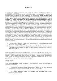 la resilienza - AUSL Città di Bologna