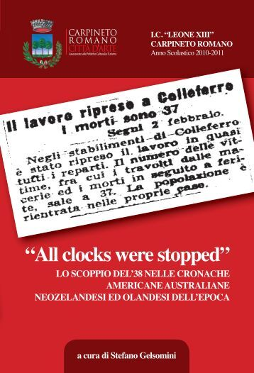"""All clocks were stopped"" - Istituto Comprensivo Carpineto Romano"