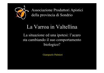 2009 Relazione Presidente su emergenza Varroa a Lazise ottobre