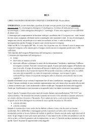 LIBRO: MAURIZIO CHIARANDA-URGENZE E ... - Appunti