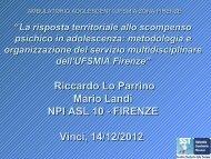 Lo Parrino - La risposta territoriale allo scompenso ... - Idee in Rete