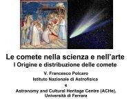 Le comete nella scienza e nell'arte - Circolo Nautico Sapri