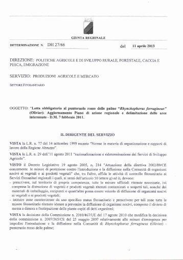 Determina punteruolo 2013.pdf - A.R.S.S.A. Abruzzo