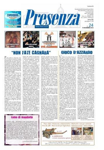 Presenza n. 24 del 9/12/2012 - Arcidiocesi di Ancona-Osimo