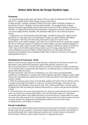 Storia_Geofisica_Agip - associazione pionieri e veterani eni