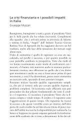La crisi finanziaria e i possibili impatti in Italia - Conoscere la Borsa