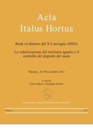 Acta Italus Hortus - AISSA