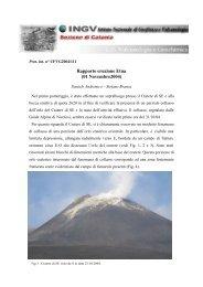 Rapporto eruzione Etna (01 Novembre2004) - Volcans-passion