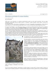 Consorzio POROTON® Italia - Muratura portante in zona sismica