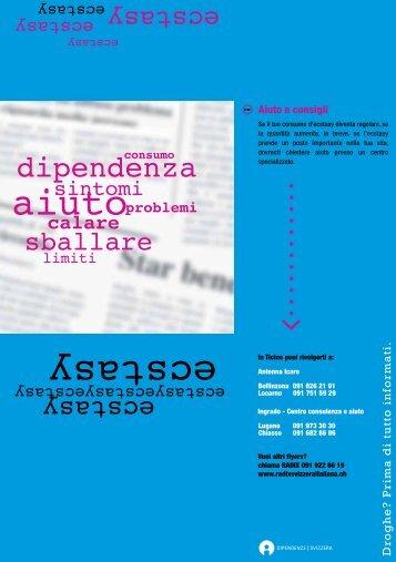 Quadratino Ecstasy - Dipendenze Svizzera